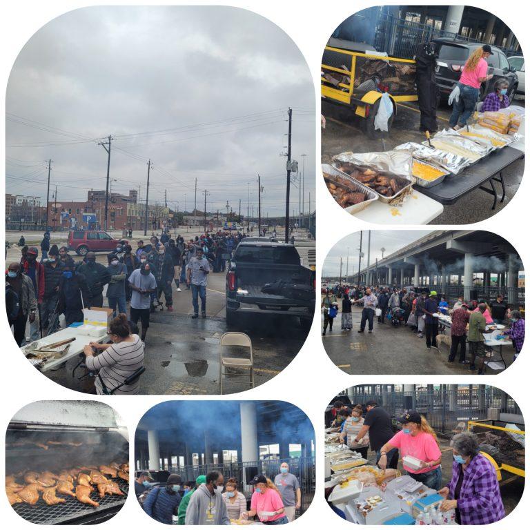 houston homeless feeding